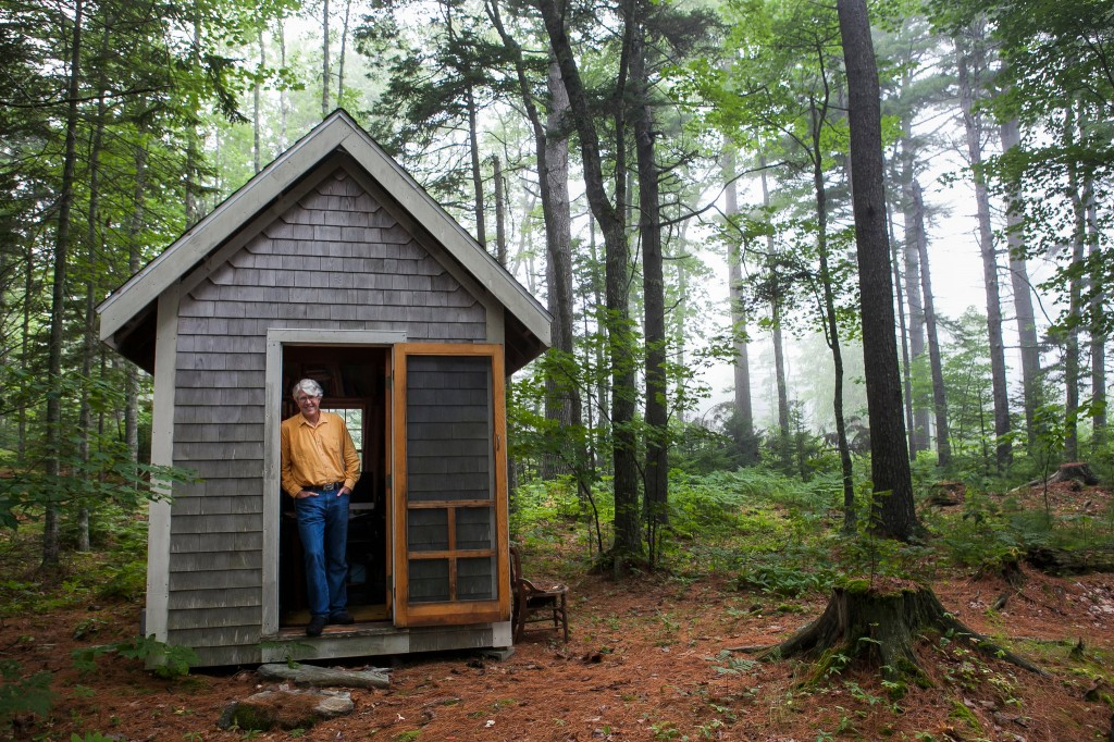 Douglas Preston at his writer shack